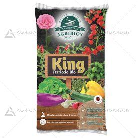 KING Terriccio Bio sacco da 20lt, miscela biologica di altissima qualità a base di torbe.