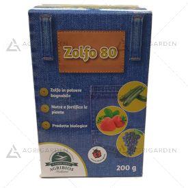ZOLFO 80 in polvere confezione da 200gr per uso agricolo nutre e fortifica le piante.
