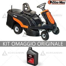 Trattorino rasaerba Rider con raccolta OleoMac Mistral 72/12,5 K H con motore da 413cm3 e larghezza di taglio da 72cm.