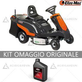 Trattorino rasaerba Rider con raccolta OleoMac Mistral 72/13 H con motore da 344cm3 e larghezza di taglio da 72cm.