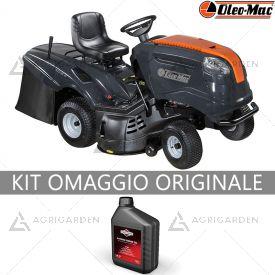 Trattorino rasaerba con raccolta OleoMac OM 103 / 16 K con motore da 452cm3 e larghezza di taglio da 102cm.