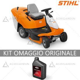 Trattorino rasaerba rider Stihl RT 4082 con cambio idrostatico e sacco di raccolta.