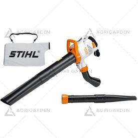 Aspiratore/trituratore elettrico Stihl SHE 81 potente per uso privato intensivo con sacco di raccolta da 45 litri.