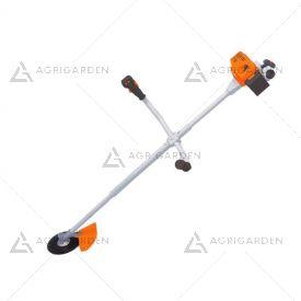 Decespugliatore giocattolo Stihl con effetti sonori, testina con led e asta telescopica con 3 batterie AAA incluse