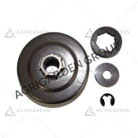 Rocchetto anulare campana frizione 3/8 7 denti originale Stihl motosega 044, 046, ms 341, ms 361 c