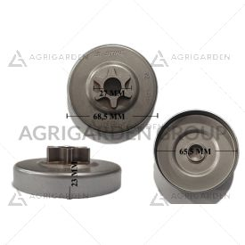 Rocchetto pignone campana frizione 3/8 6 denti originale Stihl motosega ms 200 t, ms 200, 020, 020t
