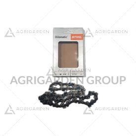 """Catena originale stihl oilomatic 63pm3, 45 maglie 3/8""""p, spessore 1,3 mm per barra, spranga da 30 cm"""