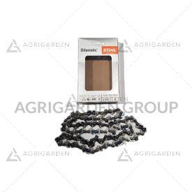 """Catena originale stihl oilomatic 63pm3, 56 maglie 3/8""""p, spessore 1,3 mm per barra, spranga da 40 cm"""